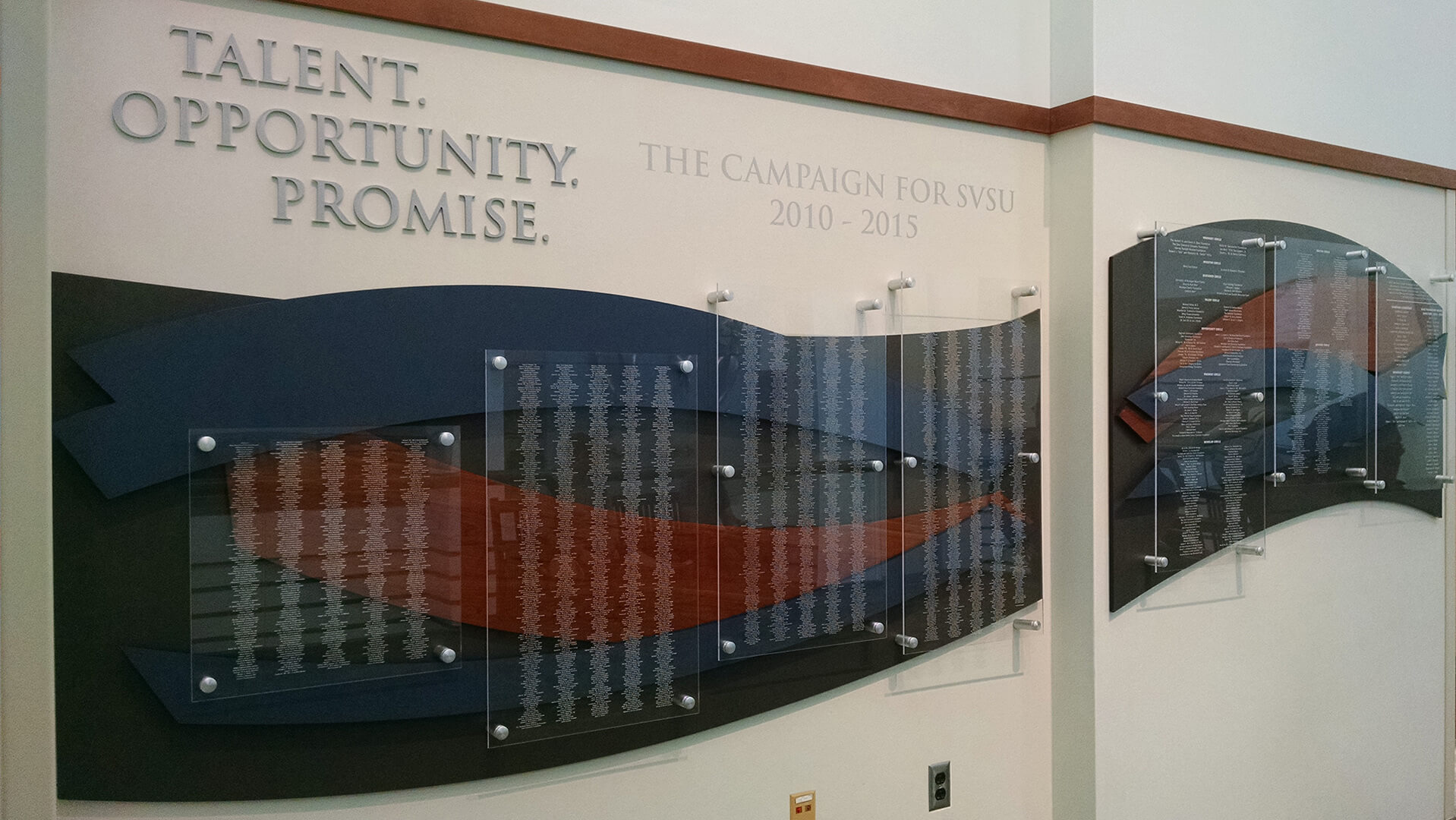 SVSU Donor Wall