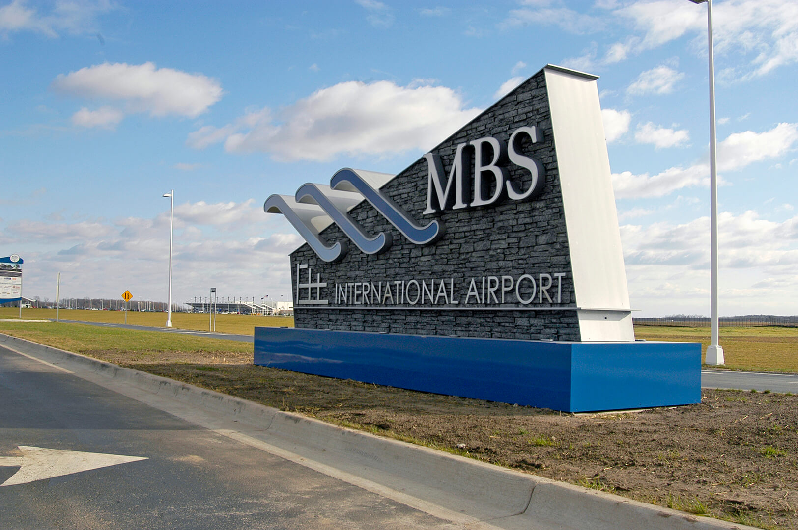 MBS Airport Sign