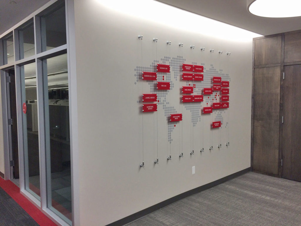 Nexteer Map Wall