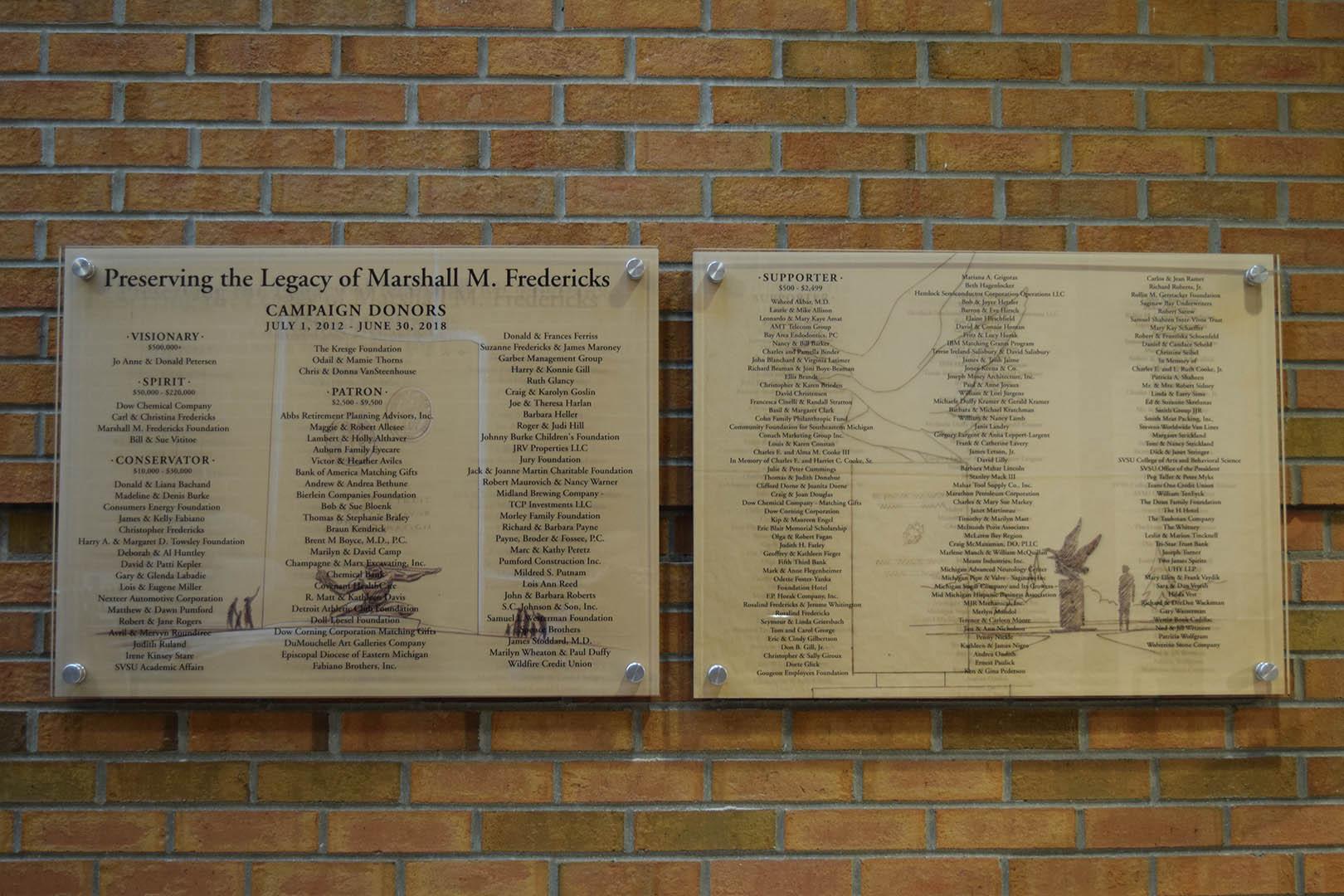 Fredericks Museum Donor Panels