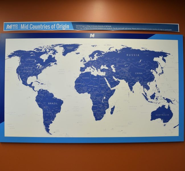 MidMichigan College World Map