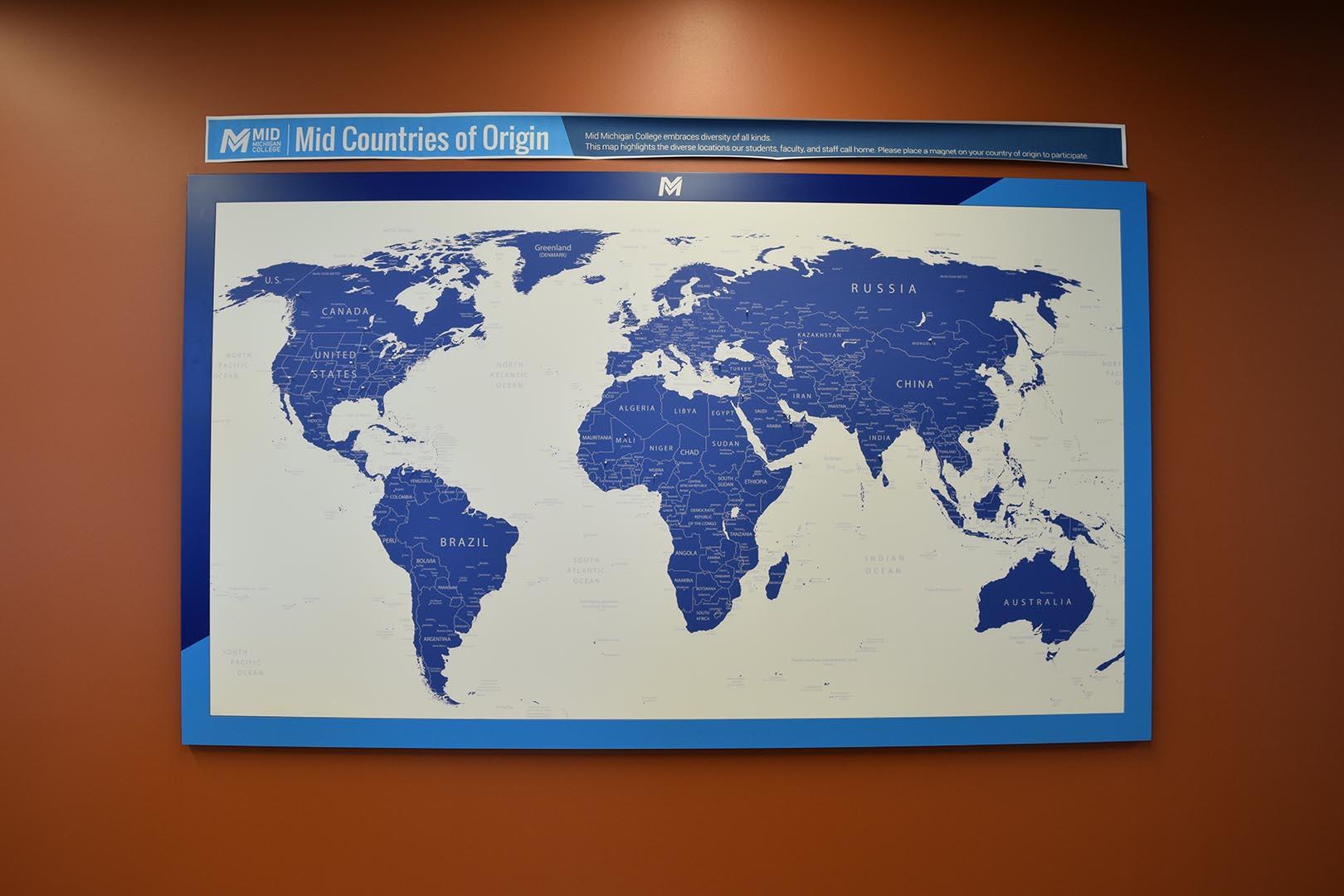 MidMichigan College World Map
