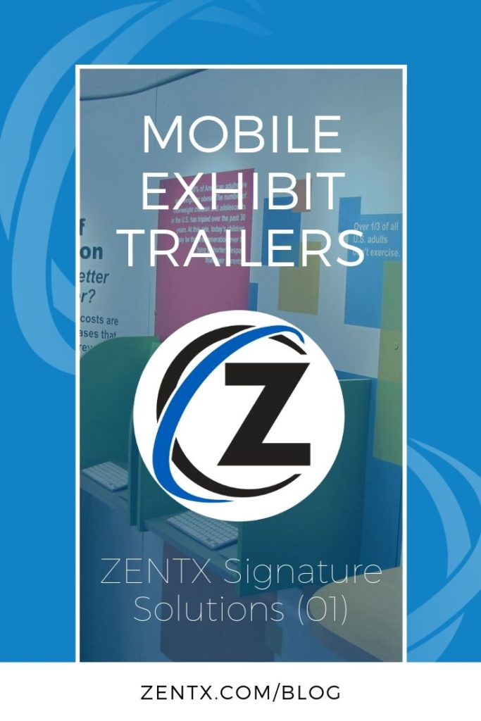 Promo graphic explaining that this article is about mobile exhibit trailers
