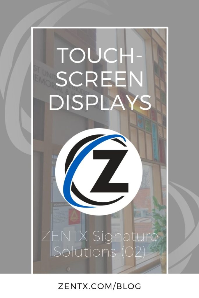 Gray promotional graphic explaining that this article deals with touchscreen displays
