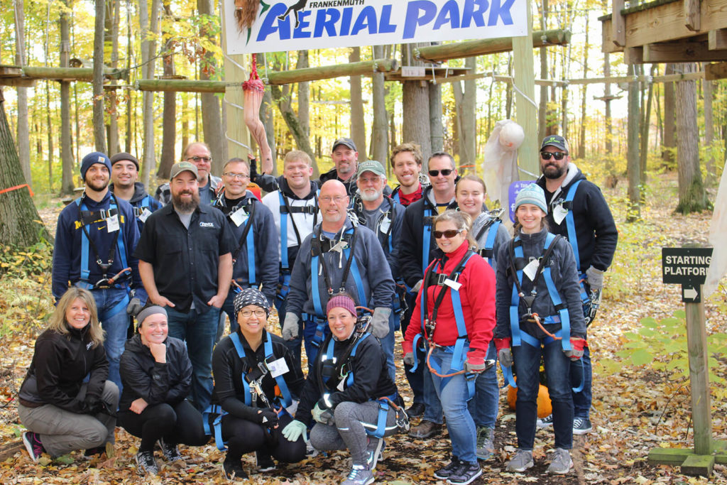 The ZENTX team in October 2019, after ziplining together