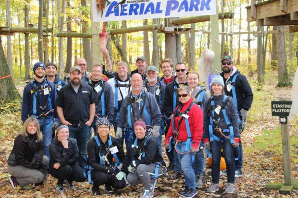The ZENTX team in October 2019, after ziplining