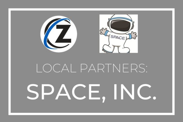 "Gray graphic; text reads ""Local Partners: SPACE inc"""