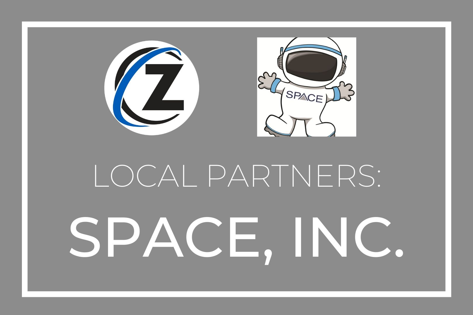 """Gray graphic; text reads """"Local Partners: SPACE inc"""""""