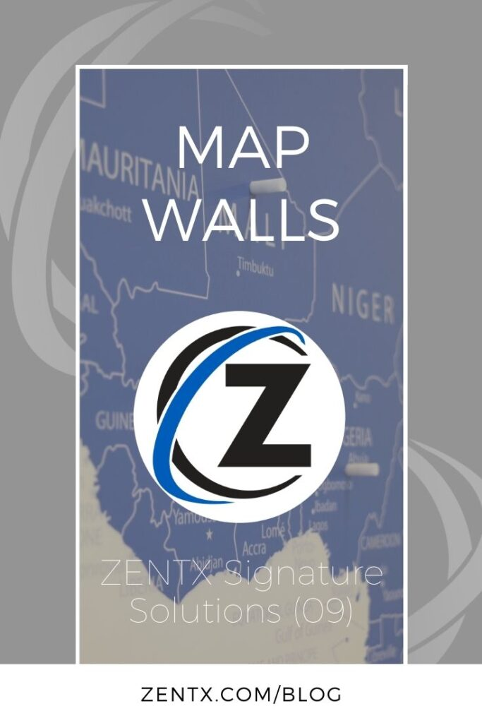 "Gray graphic; text reads ""Map Walls: ZENTX Signature Solutions (09)"""