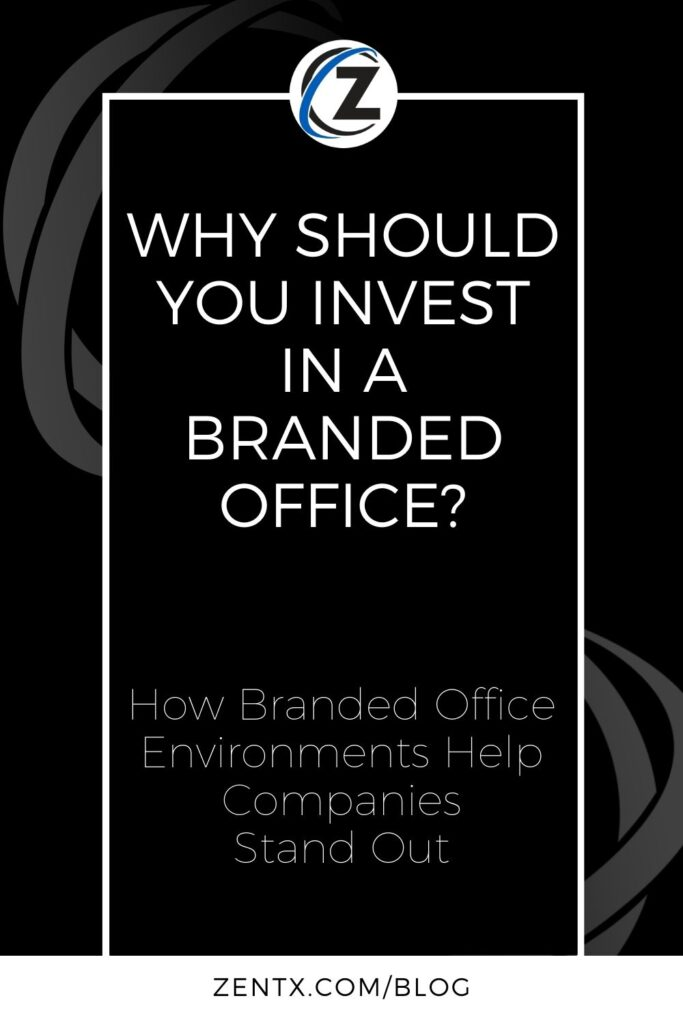"""Black graphic; text reads """"Why Should You Invest in a Branded Office? How Branded Office Environments Help Companies Stand Out"""""""
